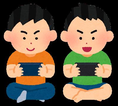 スーパーファミコンをプレイしている人の画像