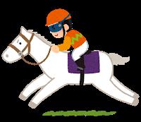 レース中の馬の画像