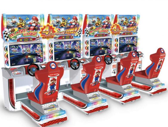 マリオカートの筐体画像